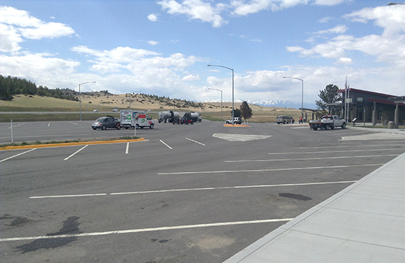 reconstructed parking lot